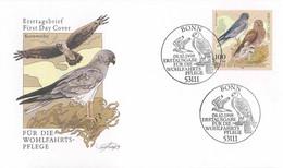 126  Busard Saint-Martin (Circus Cyaneus) - Hen Harrier FDC From Gerrmany. Bird Of Prey - Eagles & Birds Of Prey