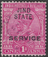 Jind State(India). 1914-27 KGV. 1a Used. SG O37 - Jhind