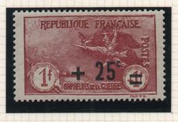 Timbre Neuf YT 168 - 25c. Sur 1+1f. Carmin - 1922 - Au Profit Des Orphelins De Guerre - Trace De Charnière - Ungebraucht