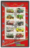 France 2003 International N PHILEXJEUNES 2003,bus, Truck, Cars,  Mi 3751-3760 Minisheet Cancelled FDC - Gebruikt