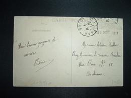 CP SAINT ETIENNE OBL.28-9 14 ST ETIENNE LOIRE (42) Cachet 13E CORPS D'ARMEE HOPl TEMP. N°13 ST ETIENNE 28 SEPT 1914 - 1. Weltkrieg 1914-1918