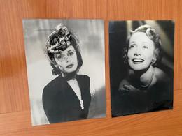 Lot De 2 Photos Originales  - Mila PARELY - Famous People