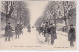 GUERET : Avenue De La République En Hiver (de Nussac 708) - Très Bon état - Guéret