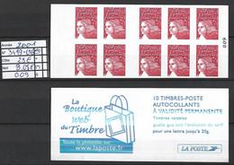 ANNEE 2001 SPLENDIDE LOT DE LUXE CARNET NON PLIER N° 3419-C16 NEUF (**) CÔTE 23.00 € Y&T A SAISIR!!!!!! - Commemoratives
