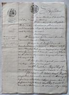 Acte Notarié 1863 - Contrat De Mariage - Maître Aubin à MEOUNES (83) - Timbre Impérial -  TBE - Manoscritti