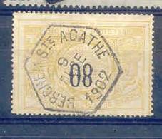 F886-België  Spoorweg Stempel Zeskant BERCHEM STE AGATHE - 1895-1913