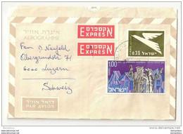 239 - 65 - Aérogramme Exprès Envoyé D'Israel En Suisse 1970 - Unclassified