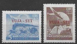 Trieste Mint Low Hinged 1949 UPU Set (25 Euros) - Nuovi