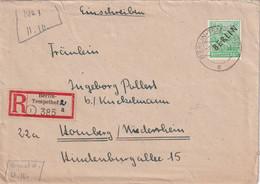 BERLINH 1948 LETTRE RECOMMANDEE DE BERLIN*-TEMPELHOF AVEC CACHET ARRIVEE HORNBERG - Storia Postale