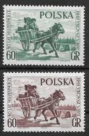 Poland 1961 40th Anniv. Of Polish Postal Museum/Stamp Day. Beautiful Set. Mi 1266-1267/Sc 1018-1019. MNH - Ongebruikt
