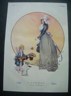 AFFICHE 1911 (Dessin) HEROUARD. L'Aumône ( CHIEN, ANGE, VIELLE) - Posters