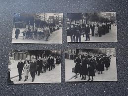 LOT Van 4 Fotokaarten - Begrafenis - Funérailles - A Identifier