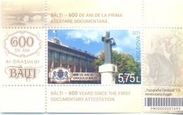 2021. Moldova, 600y Of Balti City, S/s, Mint/** - Moldavia
