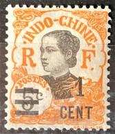 INDOCHINE 1922 - MLH - YT 117 - 1c/5c - Nuovi