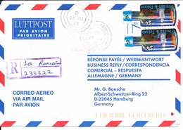 Trinidad & Tobago Registered Air Mail Cover Sent To Germany 23-8-2000 (see The Stamps) - Trinidad & Tobago (1962-...)