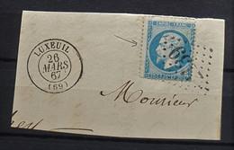 05 - 21 - France - Fragment N°22 Oblitération GC 2139 - Luxeuil - Haute Saône - 1862 Napoleon III