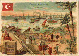 Chromos .n° 23362. Biscuits Pernot . Les Grands Ports Du Monde. Alexandrie Egypte . - Pernot