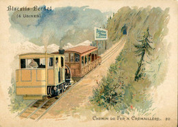Chromos .n° 23365. Biscuits Pernot . Train .chemin De Fer A Cremaillere . - Pernot