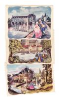 Lot De 6 CP - Châteaux De La Loire - Aquarelles De Charles HOMUALK +/- 1940 (1465 ) F - Altri Comuni
