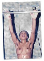 Snapshot Vintage  Amateur érotisme  Femme Nue Sous La Douche Photo Originale 8,5x13 - Personnes Anonymes