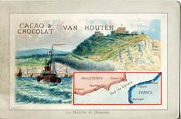 Chromos .n° 23372. Cacao Et Chocolat Van Houten. La Manche Et Douvres . - Van Houten