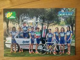 Cyclisme - Carte Publicitaire G C MIMOSA - SPRINT 1998 : Le Groupe - Ciclismo