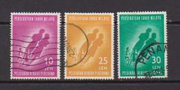 MALAYAN  FEDERATION    1962    Introduction  Of  Free  Education    Set  Of  3       USED - Federation Of Malaya