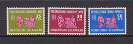 MALAYAN  FEDERATION    1963    Freedom  From  Hunger    Set  Of  3       MH - Federation Of Malaya