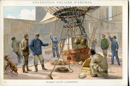Chromos .n° 23385. Cacao Et Chocolat Van Houten. Expedition Polaire D Andree. Moment Avant L Ascension . - Van Houten
