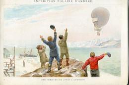 Chromos .n° 23386. Cacao Et Chocolat Van Houten. Expedition Polaire D Andree. Une Demi Heure Apres L Ascension . - Van Houten