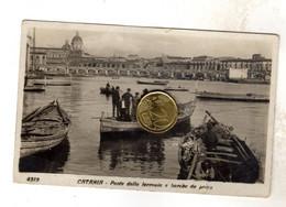 CATANIA PONTE DELLA FERROVIA    Viaggiata  1933 RARA  Vedi Retro TAGLIO CENTRALE DI CIRCA 1,5 Centimetri - Catania