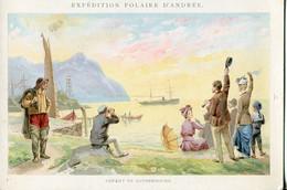 Chromos .n° 23387. Cacao Et Chocolat Van Houten. Expedition Polaire D Andree. Depart De Gothembourg . - Van Houten