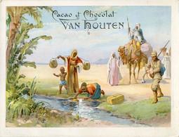 Chromos .n° 23392. Cacao Et Chocolat Van Houten. Remplissage Des Gourdes . - Van Houten