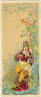 Chromo Bognard Bog1-17 - Jeune Sur Fond Des Fleur Oou Feuillages - Manufacture De Corset - Bordeaux - Artis Historia