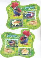Thailand 2020, Postfris MNH, National Aquatic Animal (2 Even Numbered Sheets) - Thailand
