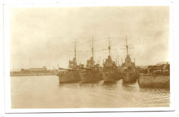 Bateaux De Guerre - Port Des Sables D'Olonne - CARTE PHOTO M. MAURICE - Guerra