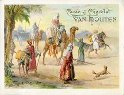 Chromos .n° 23393. Cacao Et Chocolat Van Houten. Depart Pour La Chasse . - Van Houten