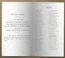 Coutances (50) Paroisse Notre-Dame Souvenir De Communion Solennelle 24-05-1964 Garçons 2scans - Devotion Images