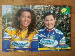 Cyclisme - Carte Publicitaire G C MIMOSA - U C VITTORIO VENETO - SPRINT 1998 : BELLUTI Et LUPERINI - Cycling