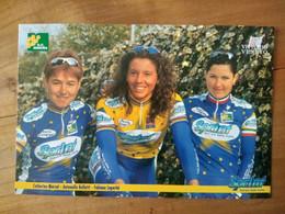 Cyclisme - Carte Publicitaire G C MIMOSA - U C VITTORIO VENETO - SPRINT 1998 : MARSAL, BELLUTI Et LUPERINI - Cycling