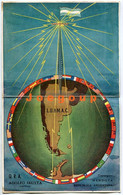 Ilustrated Postcard Card Radio QSL Q.R.A. Capitán Adolfo Irusta Tupungato Mendoza Argentina 1953 - Radio