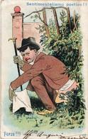 UMORISTICA - FORMATO PICCOLO (RETRO INDIVISO) - VIAGGIATA 1904 - (rif. Q75) - Humor