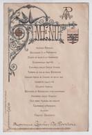 BRUGGE MENU A Mr. CHARLES DE POORTERE 31 JAN 1903  - GROOT ZICHT BRUGGE  - ZIE 2 AFBEELDINGEN 20 X 13.5 CM - Menus
