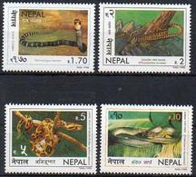 Nepal 1998 MiNr. 673/ 676  **/mnh ; Schlangen - Nepal