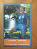 Cyclisme - Carte Publicitaire SC  ACCA DUE O - LORENA 1998 : Diana ZILIUTE  Championne D'Europe Clm 98 - Cycling