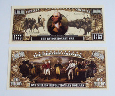 USA 1 Million Dollar Novelty Banknote 'Revolutionary War' - USA History Series - NEW - UNCIRCULATED & CRISP - Other - America