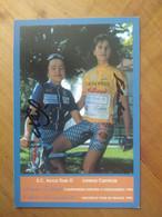 Cyclisme - Carte Publicitaire SC  ACCA DUE O - LORENA 1998 : Diana ZILIUTE Et PUCINSKAITE Tour De France 98 - Cycling