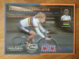 Cyclisme - Carte Publicitaire SC  ACCA DUE O - LORENA 1997 : Alessandra CAPPELLOTTO Championne Du Monde 1997 - Cycling