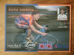 Cyclisme - Carte Publicitaire SC  ACCA DUE O - LORENA 1997 : Zoufia ZABIROVA Championne Olympique Clm 1996 - Cycling