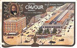 Napoli - Hotel Cavour (Prezzi Tariff... Plis..Etat...poor Condition) - Napoli (Naples)